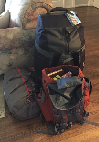 Packed and ready for trip one: Dallas to LA
