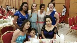 Aftercare Department ladies, plus Chamroeun's daughter, Theresa
